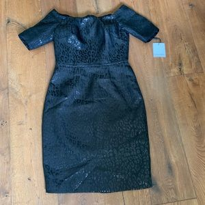 Black leopard print dress. New